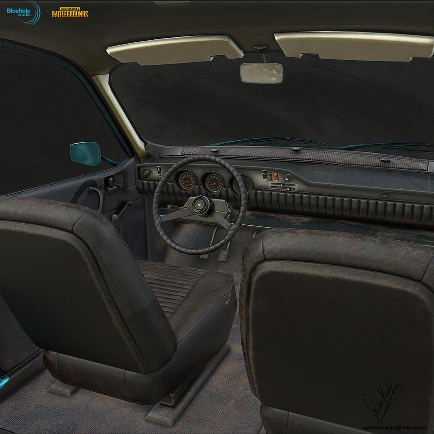 PUBG Dacia 1300 LP Interior 02 by sankalp23