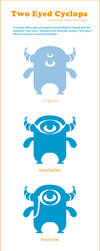 Two Eyed Cyclops logo redesign by Skribbles
