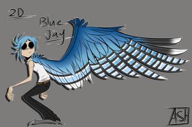 2D Winged AU! Ref by Ashesfordayz