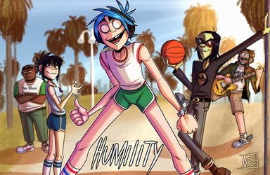 Humility - Gorillaz by Ashesfordayz