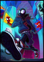 What's up danger! - Spiderman into the Spiderverse by Ashesfordayz