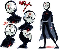 Red X Doodles - Teen Titans