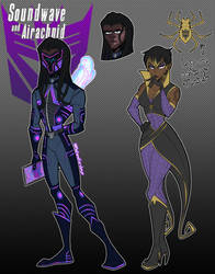 Soundwave and Airachnid - Humanformers