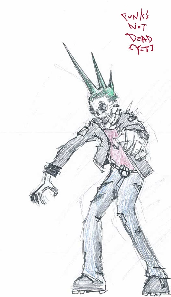Punk Never Died by cattterpillarboy