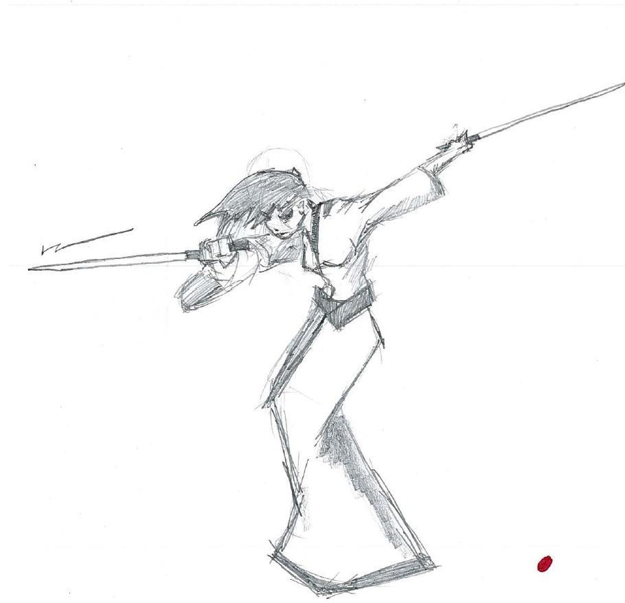 Blind Swordswoman by cattterpillarboy