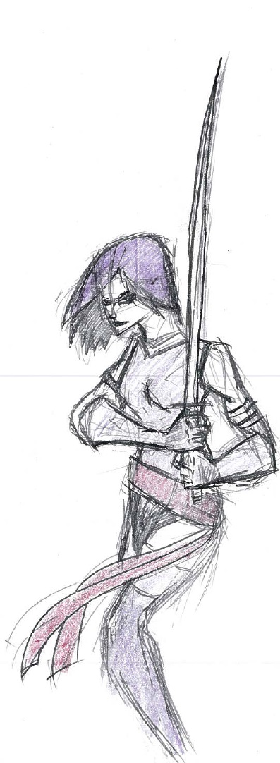Psylocke by cattterpillarboy