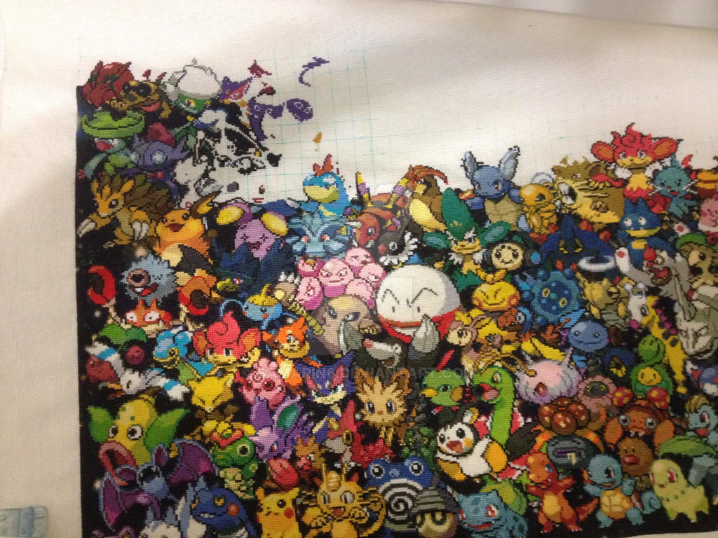 Pokemon All Gens - 4th row WIP by samarin6