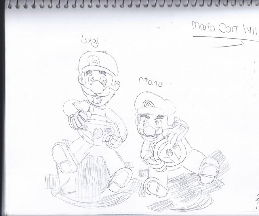 mario and luigi  mario cart wii by outofthosewoods on deviantart