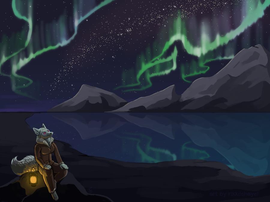 Aurora Borealis by Rikkoshaye