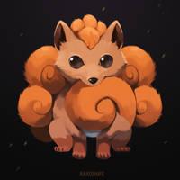 Vulpix by Rikkoshaye