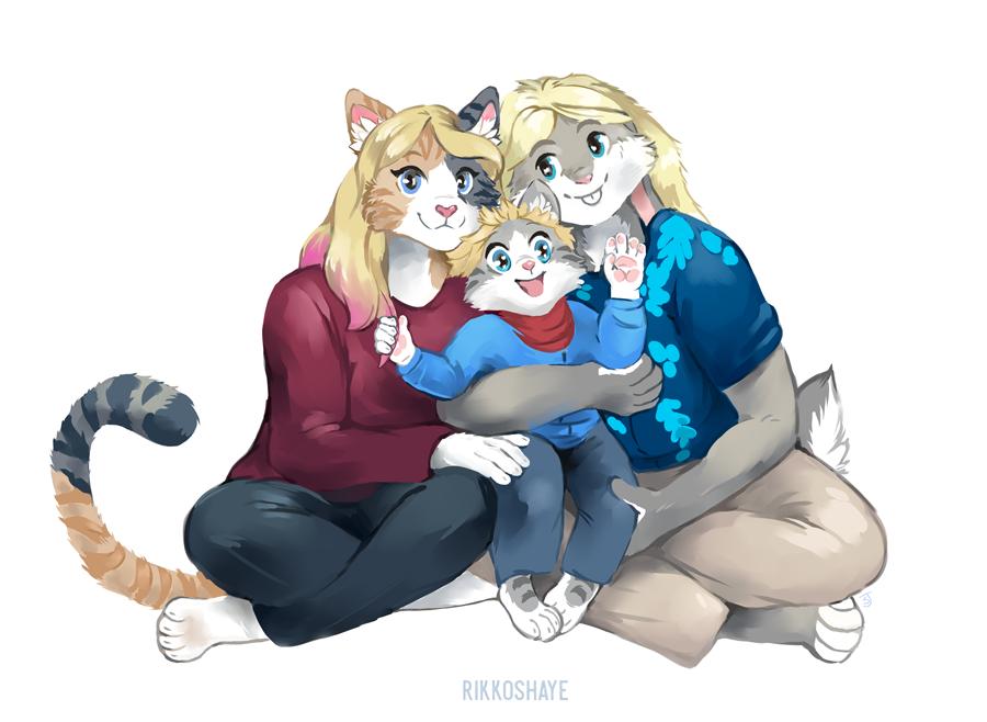 Happy Family by Rikkoshaye