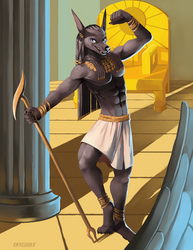 Anubis, Protector of the Dead by Rikkoshaye