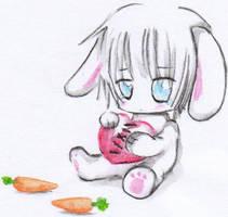 Sad little bunny by ashita-no-tsuyu