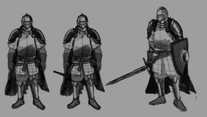 Knight Character Concept Sketches 2