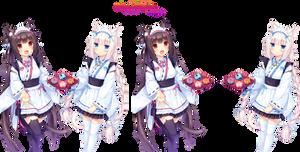 Chocola and Vanilla render [Sayori]