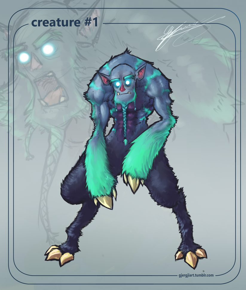 Creature nr.1 by Gjergji-zhuka