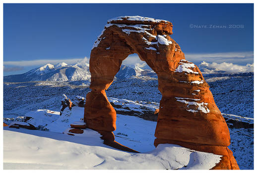Winter Falls on Arches