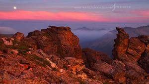 Full Moon Over Longs Peak by Nate-Zeman