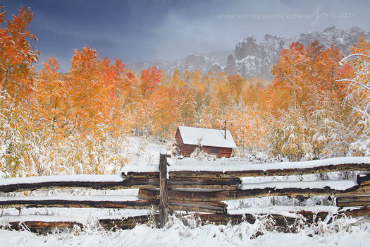 First Snow at the Cabin