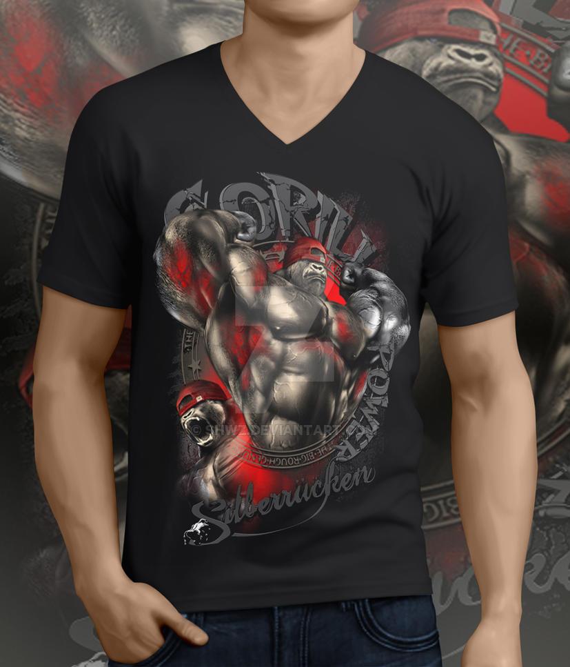 Gorilla Power T-shirt by SHWZ