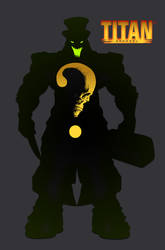 Titan Apparel logo design progress horror