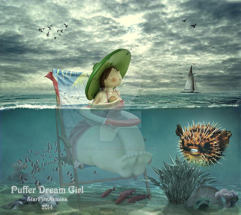 Puffers Dream Girl by StarfireArizona