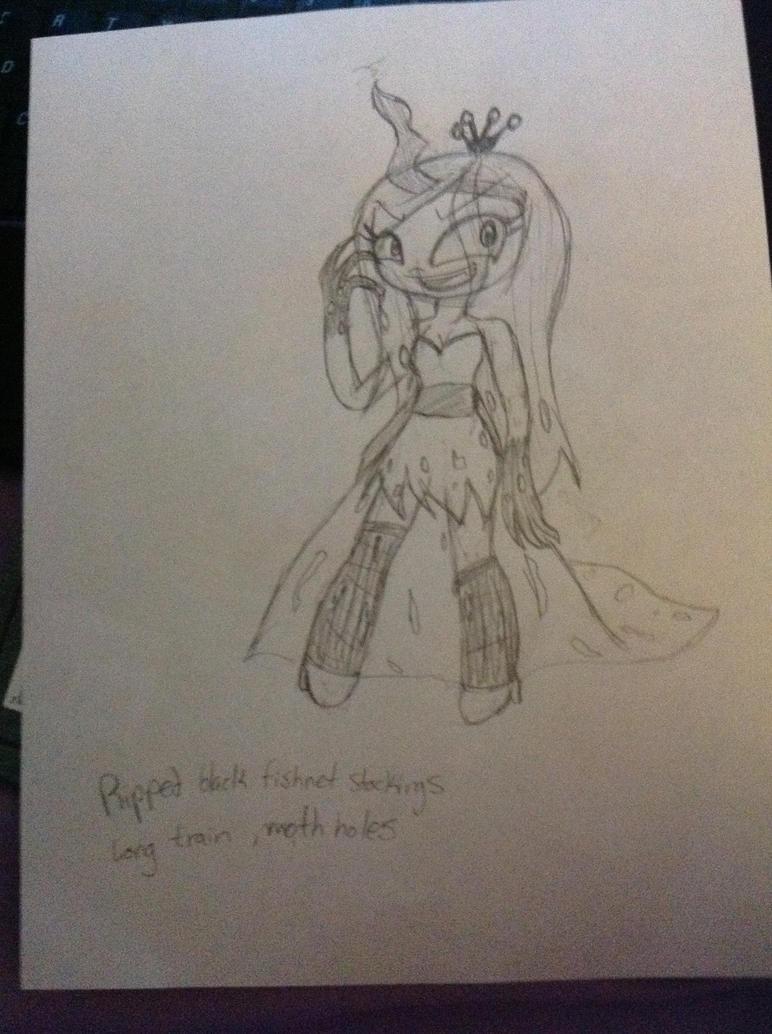 MLP- Queen Chrysalis human by SugarHIGH-cHAOS