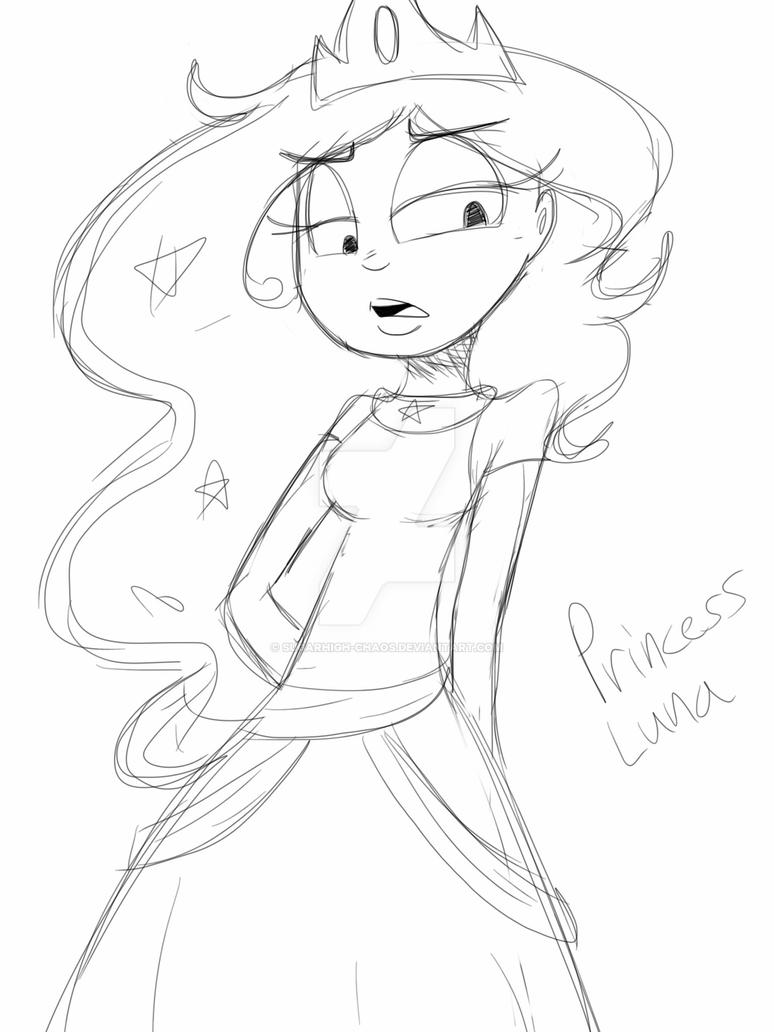 MLP- Princess Luna sketch by SugarHIGH-cHAOS