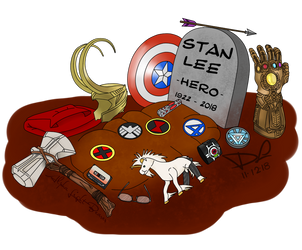 Stan Lee, Hero by AlphaLightBearer