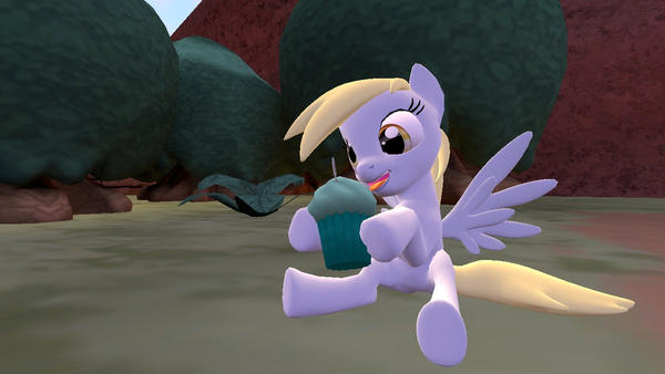 Durpy eating cupcake by Shatoyarn-MoonGoddes