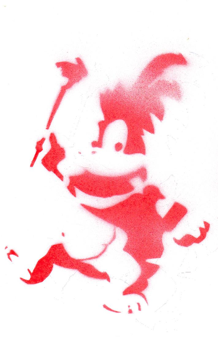 Larry Koopa Stencil by Koopa Stencil