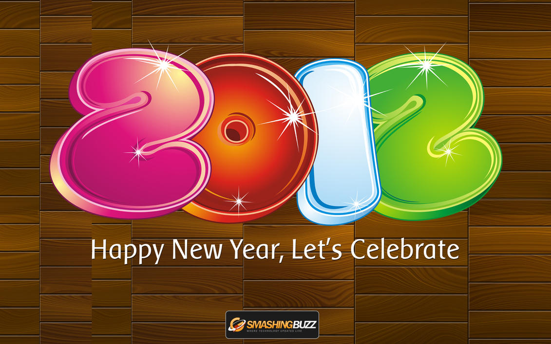Happy New Year 2012 Widescreen Wallpaper by kashifmughal