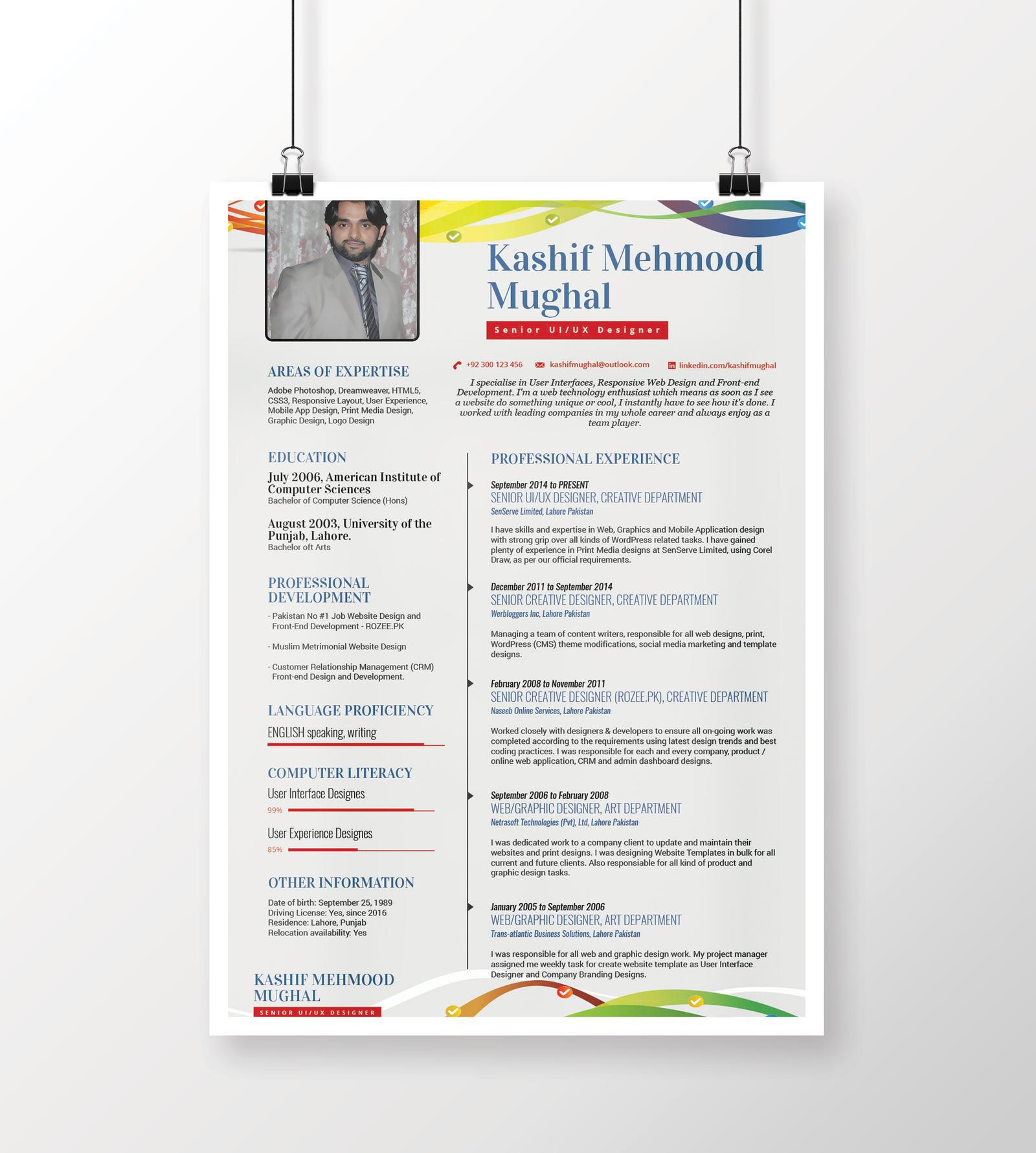 Free minimal resume design psd mockup by kashifmughal on for Minimal art resumen