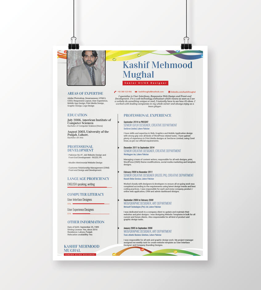Free Minimal Resume Design Psd Mockup By Kashifmughal On Deviantart