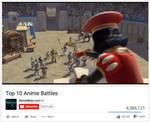 best anime battle