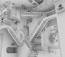 Escher's Relativity by BNeutral