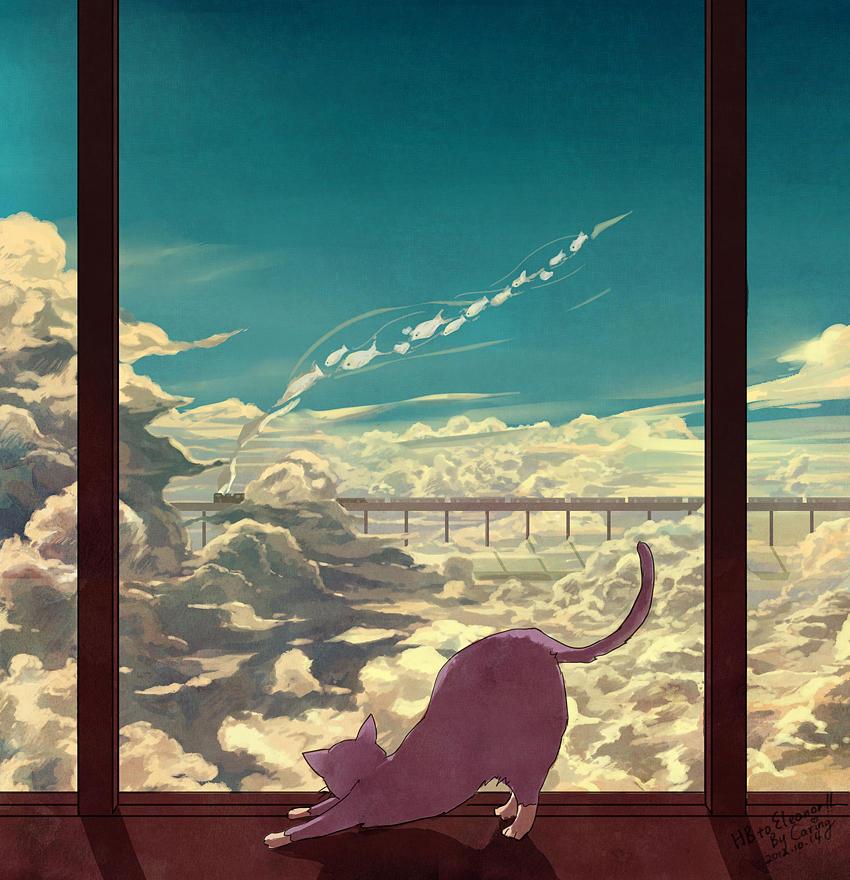 A Purple Cat's Dream
