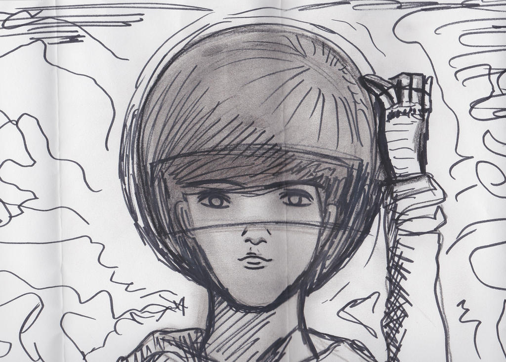 Man with crash helmet by Pek-men