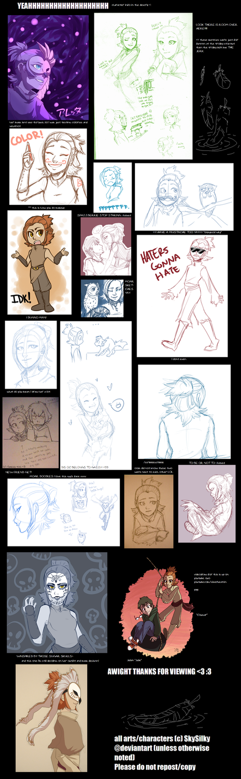 """couga"" sketch dump by SkySilky"