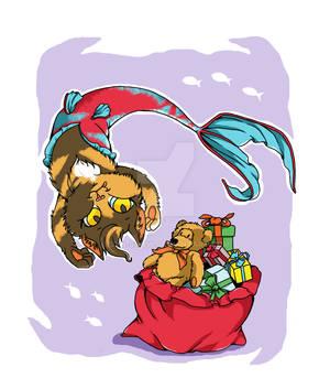 Merry Christmas Mermaid Cat
