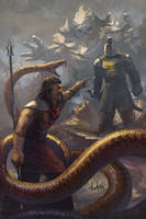 Oberyn Martell vs Gregor Clegane.Associative image by NickKalinin
