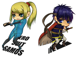Samus and Ike ::commission:: by NatsuPi