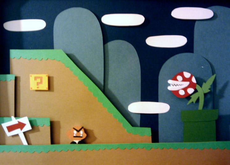 Super Mario Shadowbox by Hatpire