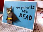 Sad Batman Greeting Card