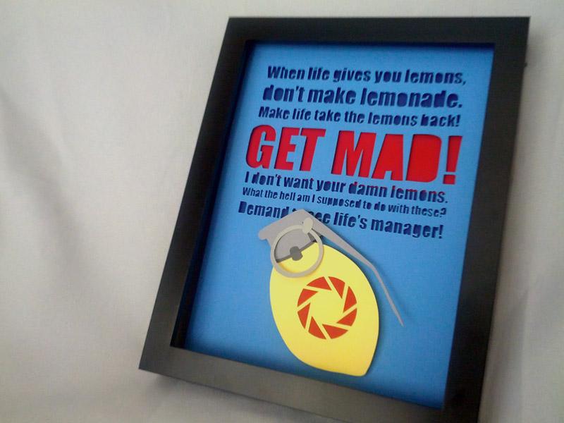 GET MAD: The Combustible Lemon Shadowbox