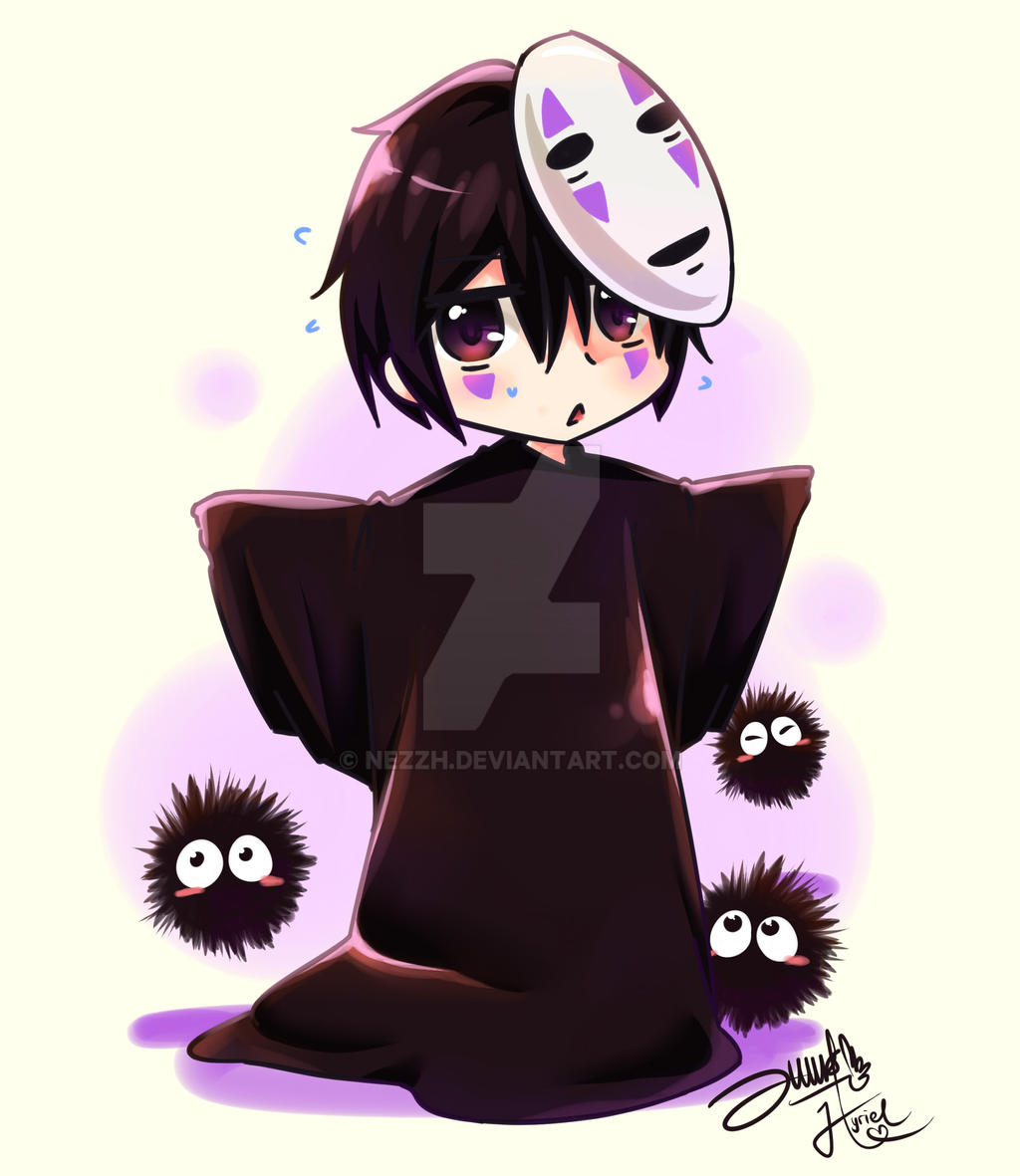 chibi noface by nezzh on deviantart