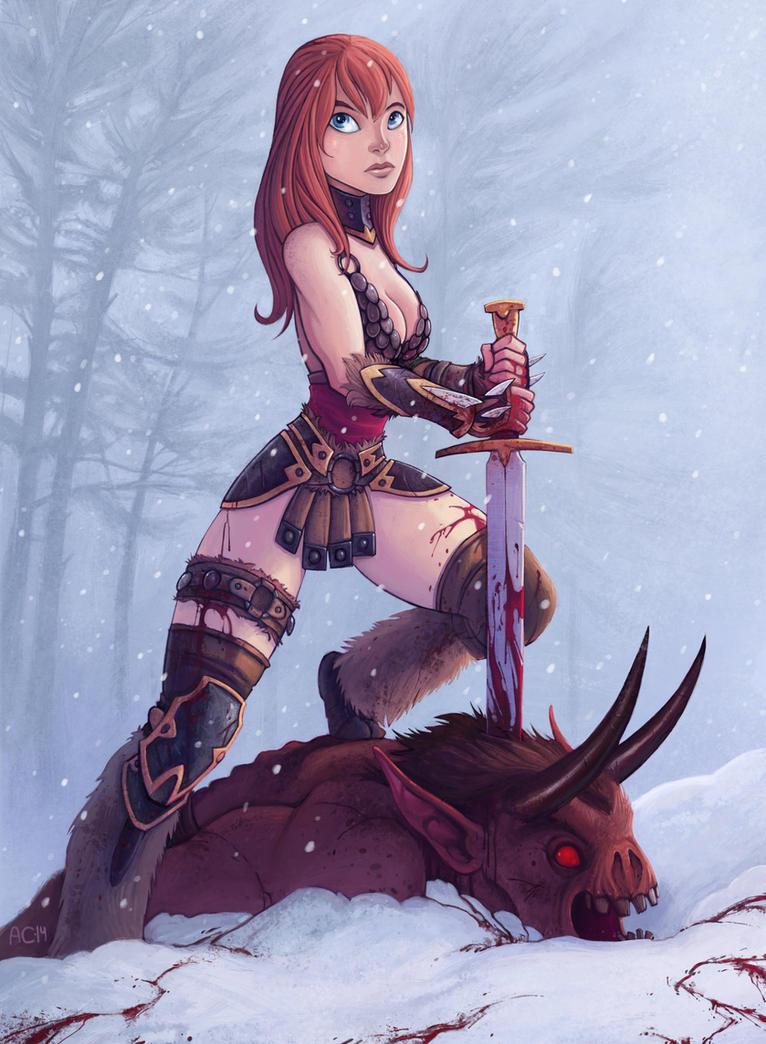 Barbarian warrior by alexichabane