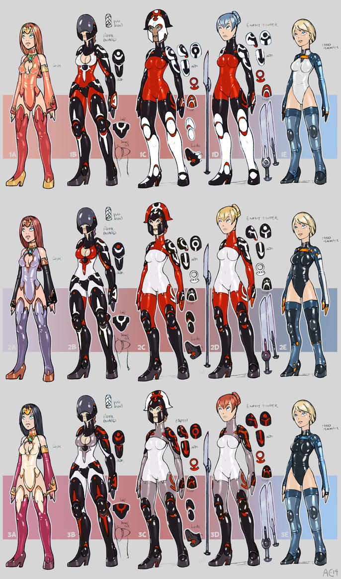 Character Design Competition 2014 : Character designs for comic by alexi c on deviantart