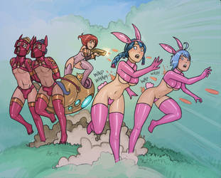 Bunny Hunt (Colour) by Alexi-C