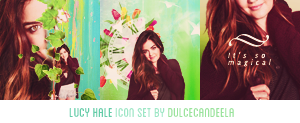 LUCY HALE ICON SET by DulceCandeela